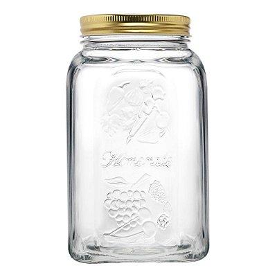 Pote de Vidro Com Tampa Homemade 1,5L Incolor Pasabahçe