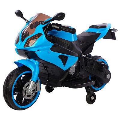 Mini Moto Elétrica Infantil 6v Azul BW127 AZ Importway