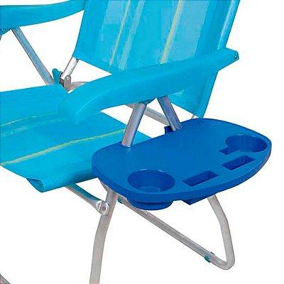 Mesa Portátil em Polipropileno Para Cadeira de Praia Mor