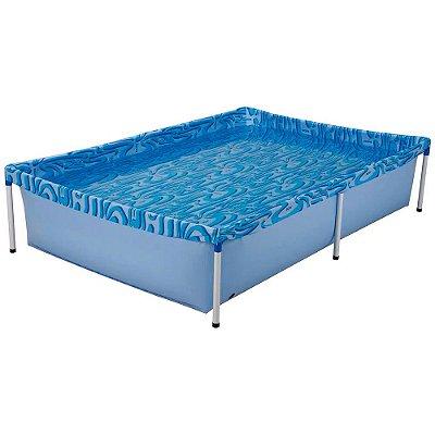 Piscina Standard Retangular PVC 1000 litros Mor