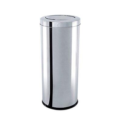 Lixeira Inox Com Tampa Basculante 7,8 Litros Decorline Brinox