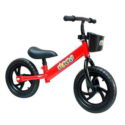 """Bicicleta Sem Pedal 12"""" Importway Balance BW152VM Vermelho"""