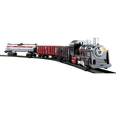 Trem Expresso Locomotiva Infantil Luz e Som BW148 Importway
