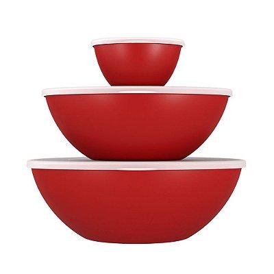 Conjunto 3 Peças Tampa Essential Vermelho Bold Coza Brinox