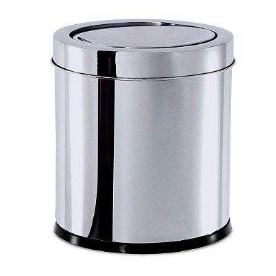 Lixeira Inox Com Tampa Basculante 5,4 Litros Decorline Brinox