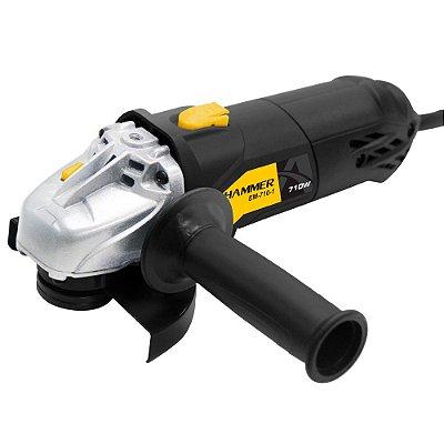 Esmerilhadeira Angular 4.1/2 Pol. 710W GYEM7101 Hammer 110v
