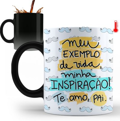 Caneca Personalizada Pai Meu Exemplo De Vida (Com Foto e Nome)