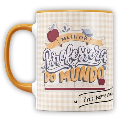 Caneca Personalizada Professor Com Carinho (com Nome)