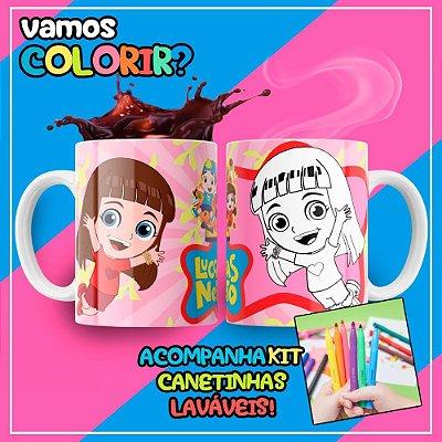 Caneca Para Colorir Dia das Crianças Giovanna Neto (Grátis Kit Canetinhas)