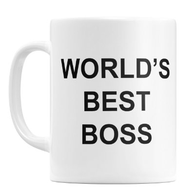Caneca Personalizada World's Best Boss (Com Nome)