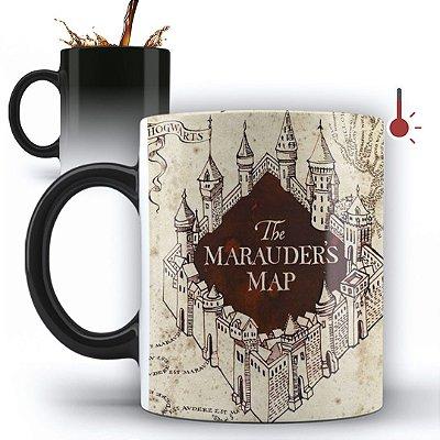 Caneca Mágica Personalizada Mapa Do Maroto Harry Potter  (Com Nome) (mod.1)