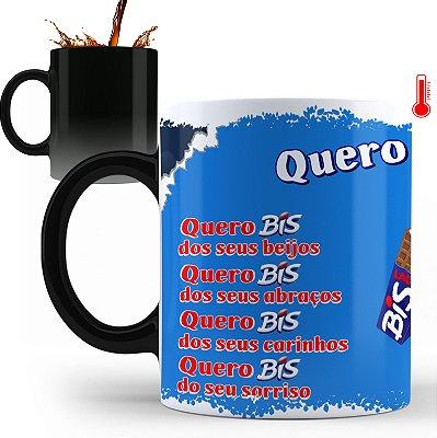 Caneca Personalizada Chocolate Quero Bis (Com Nome)