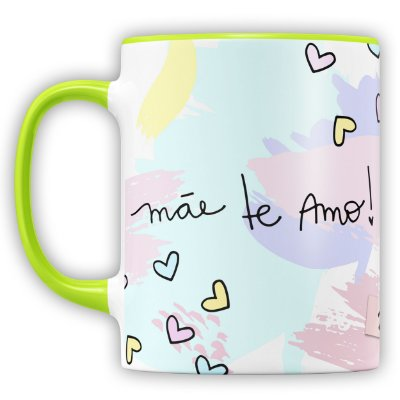 Caneca Personalizada Mãe Te Amo (Foto e Nome)