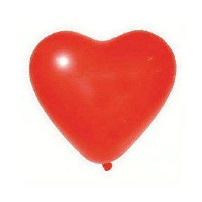 Balão Coração Vermelho para Decoração Romântica 20 Un