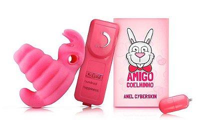 Anel Peniano Cyberskin - Estimulador Duplo - Amigo Coelhinho