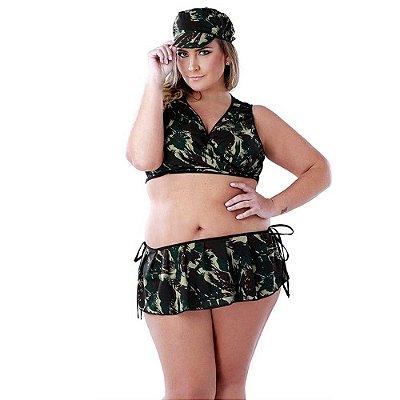 Fantasia Militar Tamanho Plus Size - Coleção Desejos