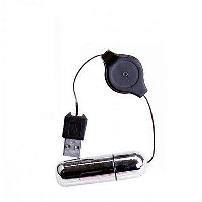 Mini Cápsula Vibratória - com Conexão USB