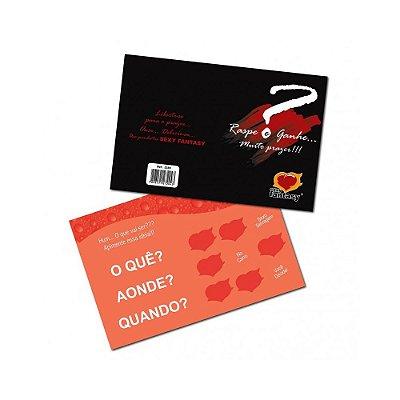 Cartão Raspadinha do Prazer - Edição Dia dos Namorados