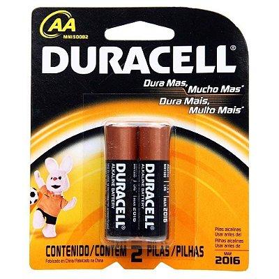 Pilhas AA - Usadas em Vibradores - Duracell 2 Un
