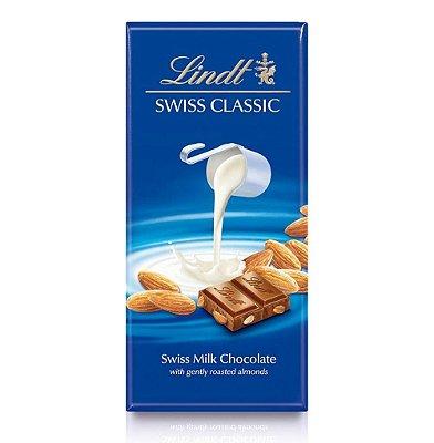 Chocolate Suíço Com Amêndoas Lindt Swiss Classic - 100g