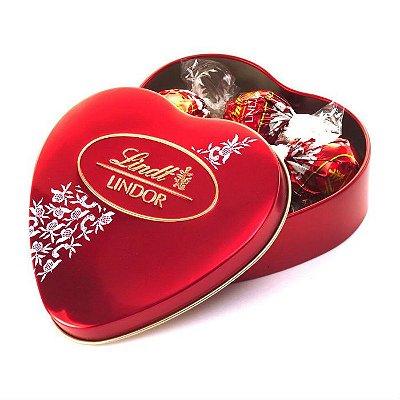 Bombons Lindt Chocolate Para Presente Milk Heart - 48g