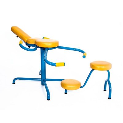 Conjunto Scorpion com Cadeira e Apoio em Aço Carbono