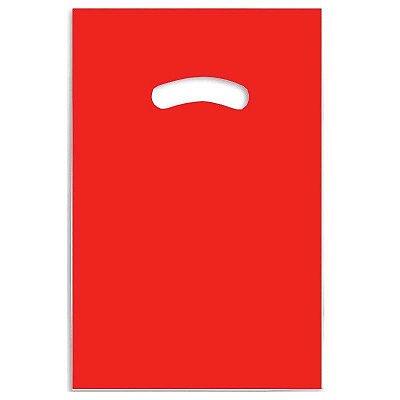 Sacola Plástica Vermelha com Alça 20 x 30 cm 01 Unidade