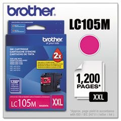 LC105M - Cartucho Original Brother Magenta Autonomia 1200Paginas