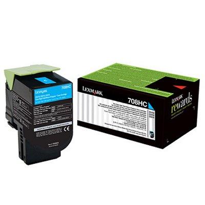 70C8HC0 - Toner Original Lexmark 708HC Ciano Autonomia para 3.000Páginas