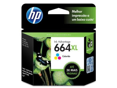 664XL - Cartucho Original HP Tricolor F6V30AB
