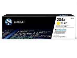 CF512A - Toner Original JetIntelligence HP 204A Amarelo 900Paginas aproximadamente em texto
