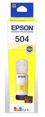T504Y - Garrafa de Tinta T504420AL - 504 Amarelo - Autonomia 6.000Páginas Aproximadamente em texto