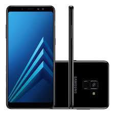 """Samsung Galaxy A8+ Preto, com Tela de 6"""", 4G, 64 GB e Câmera de 16 MP - SM-A730FZKKZTO"""
