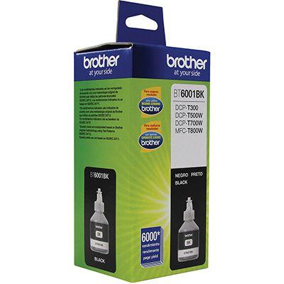 BT6001BK - Garrafa de tinta Original Brother BT-6001BK Preta - Autonomia 6.000Páginas aproximadamente