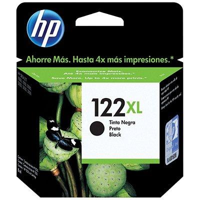 122XL - Cartucho de Tinta Original HP CH563HB Preto 480Páginas aproximadamente