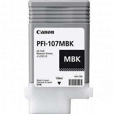Cartucho de Tinta Original Canon PFI-107MBK Preto Fosco 130ml