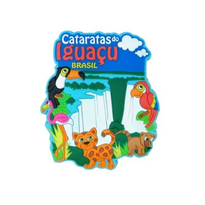 Imã emborrachado alto-relevo Cataratas