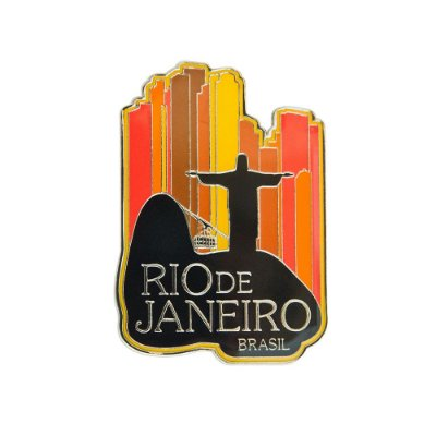 Imã de geladeira metal Sombra do Cristo - Rio