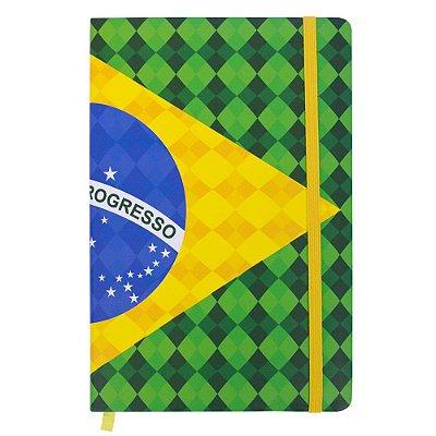 Caderno de anotações bandeira - Brasil
