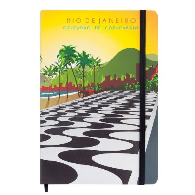 Caderno de anotações calçadão de Copacabana - Rio de Janeiro