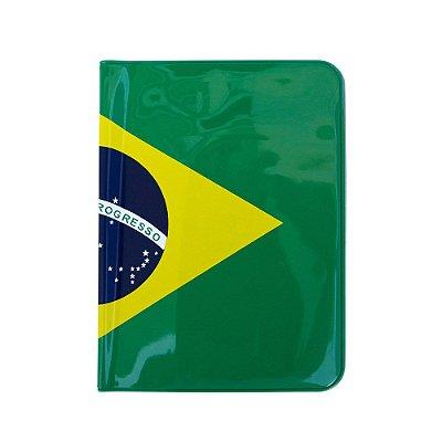 Capa para passaporte verde escuro - Brasil