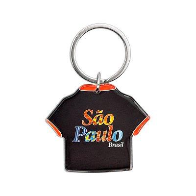 Chaveiro acrílico camiseta - São Paulo
