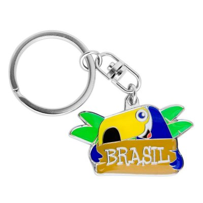 Chaveiro de metal tucano - Brasil