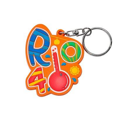 Chaveiro emborrachado Rio 40 graus - Rio de Janeiro