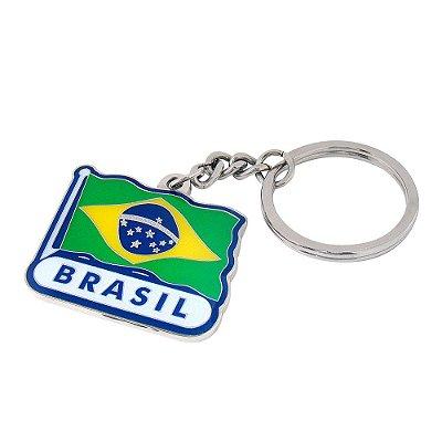 Chaveiro metal bandeira - Brasil