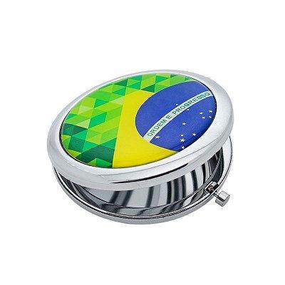 Espelho de bolso Bandeira - Brasil