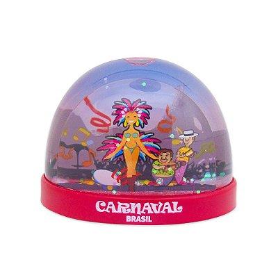 Globo de neve plástico carnaval - Brasil