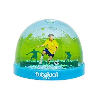 Globo de neve plástico futebol - Brasil
