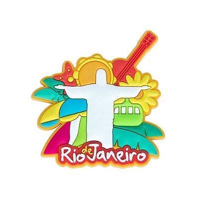 Imã de geladeira Cristo retrô - Rio de Janeiro
