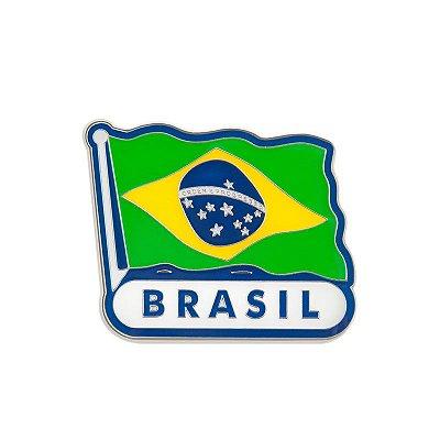 Imã de geladeira de metal bandeira - Brasil
